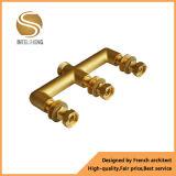 Distribuidor de bronze com 3 conexões