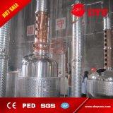 Todavía crisol eléctrico del cobre de la calefacción para ejecutarse que elimina, equipo de cobre de la destilería