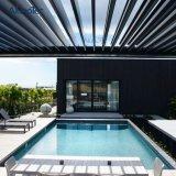 Pergola Gazebo системы крыши тени Sun алюминиевыми моторизованный жалюзиими раскрывая водоустойчивый