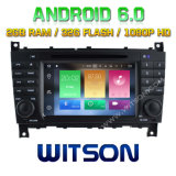 Witson Octa-Core (Eight Core) DVD de voiture Android 6.0 pour Mercedes-Benz C Class 2g ROM 1080P Touch Screen 32 Go ROM