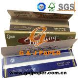 Cama Tamaño King Brown Oro Azul De Luxe el papel de fumar