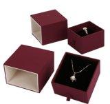 Caja de embalaje del anillo de la alta calidad con la tapa y la base
