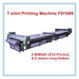 Hallo-Geschwindigkeit Flachbettdigital-Drucken-Maschine für Gewebe