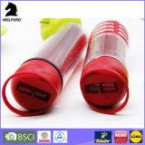 750ml BPA освобождают бутылку воды спортов пластмассы качества еды с сторновкой