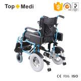 リハビリテーション療法の医療機器の取り外し可能な電池折る力の電動車椅子