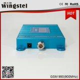 Venta caliente señal azul repetidor GSM980 Amplificador de señal con pantalla LCD de la señal de mejora para móviles