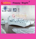 Кровать 2818 белой кожи типа верхнего качества европейская