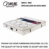 Couro de tecido de seda macia de alta qualidade Compressão de bolso com colchão de mola com móveis de látex natural, Fb821