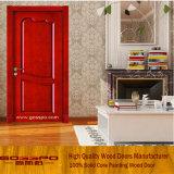 빨간색 그려진 단단한 나무로 되는 룸 문 (GSP6-005)