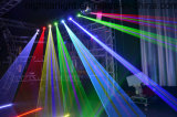 luz laser de la pista móvil de 4W RGB