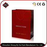bolso de empaquetado de papel modificado para requisitos particulares del regalo de 365*160*130m m que broncea