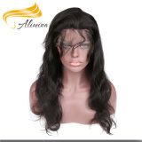O cabelo humano do Virgin por atacado empacota o fechamento do Frontal de 360 laços