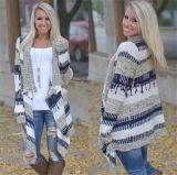형식은 섞었다 색깔 불규칙한 스웨터에 의하여 뜨개질을 한 카디건 (80018)를