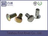 ribattino d'acciaio semi tubolare placcato zinco della testa di ovale di 4.7X10mm