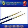 alambre de cristal envuelto cinta de la trenza de la fibra de vidrio del servicio de 300V 250c PTFE