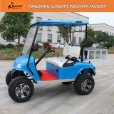 Ezgoの青いカラー電気ゴルフカート、2 Seaterの後部ボックスが付いているゴルフカートをハンチングを起す販売のための安いゴルフカート