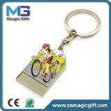 Trousseau de clés de recyclage personnalisé en métal d'équitation de bicyclette