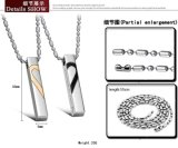 カップルの約束のギフトのためにPendent中心の困惑の方法宝石類のカップル316Lのステンレス鋼のネックレス愛2半分