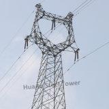 220kv Toren van het Rooster van het Staal van de Hoek van de Transmissie van de macht de Metaal