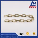 5,5 mm DIN763 électro-galvanisé jaune longue chaîne de liaison