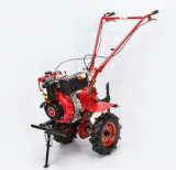 力の耕うん機を耕すディーゼル機関手