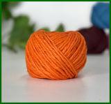 Filato tinto della iuta per la fabbricazione dell'illustrazione (arancio)