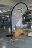 Pólo de fibra de vidro personalizados de praia em forma de lágrima Feather arvorando pavilhão (SU-FG6)