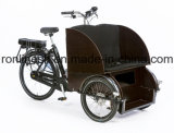 2017前部助手席が付いているより広いボディペダル250With500W電気Pedicab/Pedicabの人力車か人力車または三輪車またはTrikeまたは電気人力車