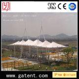 Couverture de la tente PVDF de structure métallique de couverture de la tente PVDF de jardin public