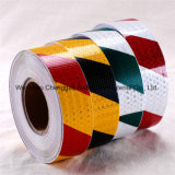 Nastro adesivo riflettente del PVC di avvertenza rossa e bianca della banda (C3500-S)