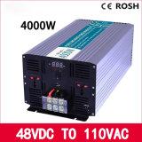 48VDC ao inversor puro da potência de onda do seno de 110V 4000W