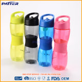 Botella de agua plástica modificada para requisitos particulares con la paja y la maneta