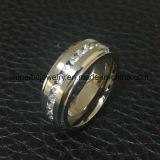 Anel de dedo de titânio de aço inoxidável de moda Jewellry