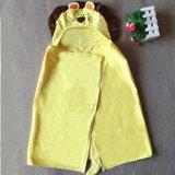 最高吸収のビロードの浴衣/マントを切っているフード付きの子供
