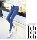 2017 Dame-blaue hohe Taillen-Großverkauf-Jean-Hosen