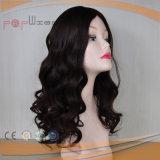Mejor vender Remy Vigin negro cabello ondulado nudos dobles superior de la piel peluca