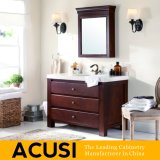 Amerikanische einfache Art-festes Holz-Badezimmer-Großhandelseitelkeit (ACS1-W17)