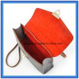Il disegno semplice ha personalizzato il sacchetto casuale del messaggero ritenuto lane, sacchetto di mano caldo del Tote di acquisto di promozione con la cinghia di cuoio registrabile dell'unità di elaborazione