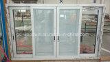 Schiebendes Aluminiumfenster Foshan-Woodwin mit kundenspezifischem Glas