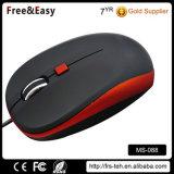 Revestimento em borracha macia média melhores Mouse USB com fio