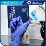 Pó barato do fabricante de China, maioria descartável /Pink roxo livre da luva do nitrilo disponível