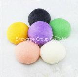 Esponjas Konjac cosméticas naturais vegetais elevadas da fibra 100% da erva