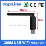 Dual Band 300Mbps USB Plug and Play Stand Alone Adaptador LAN sem fio para Smart Home Dispositivo de controle remoto