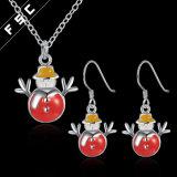 Fördernde Geschenk-Schneemann-Halsketten-Ohrring-Schmucksachen eingestellt für Weihnachten
