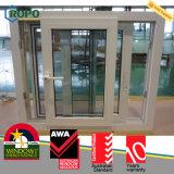 Finestra di scivolamento di UPVC, uragano Windows resistente agli urti del PVC