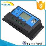 12V/24Vは太陽料金のコントローラCm20K-20A USB-5V/3Aの移動式充電器の二倍になる