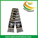Спорты промотирования связали шумоглушитель вентилятора шарфа с логосом жаккарда