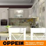 Linha de ouro Oppein Laca Branco Euro armário de cozinha (PO14-024)
