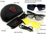 Obiettivi militari degli occhiali di protezione 3 o 5 che ricoprono i vetri tattici Eyeshield degli occhiali da sole dell'esercito per la fucilazione di Airsoft del gioco di guerra