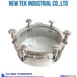 Les mesures sanitaires haut de la vue Vue en verre rond en acier inoxydable Manway Couvercle du réservoir